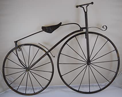 INsideOUT 25u0026quot; Iron Antique Style Bicycle Wall Art Brown