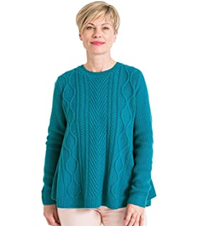 Wool Overs Pull à col cheminée Maille Fantaisie - Femme - Laine ... ec143eafc207
