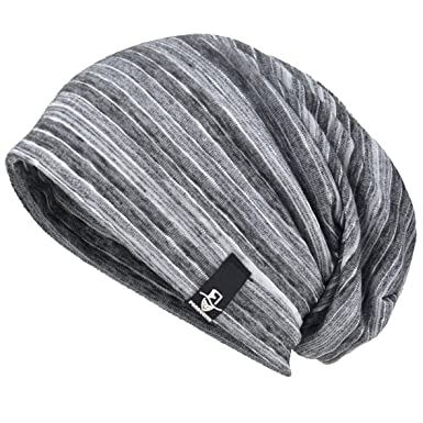 ec1afba434d Men Slouch Hollow Beanie Thin Summer Cap Skullcap B083 (Grey)  Amazon.in   Clothing   Accessories
