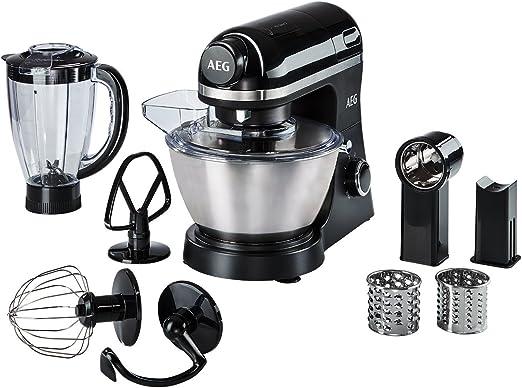 AEG KM3300 Robot Cocina, 800 W, 6 velocidades, Aluminio, Negro ...