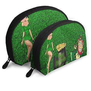 Amazon.com : Makeup Bag Saint Patricks Day Portable Shell ...