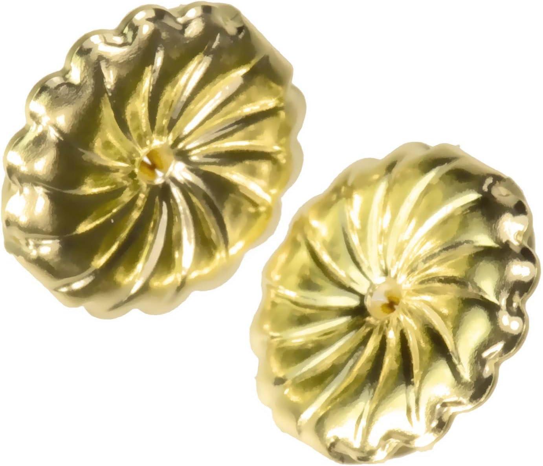 uGems 18K Yellow Gold Swirl Earring Backs Jumbo 9mm (1 Pair) 71v2B6vvzpHLSL1394_