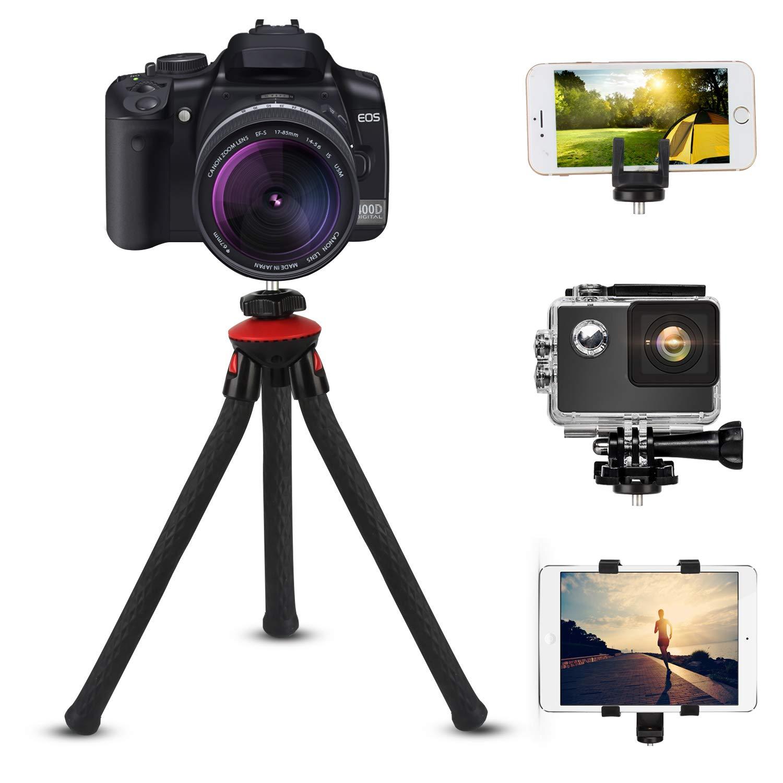 bedee Mini Stativ, 4-in-1 Flexibles Handy Stativ Tablet Halterung Digital Kamera Ständer Action Kamera Reisestativ mit Bluetooth Fernbedienung für Gopro, iPad, iPhone, Android und Andere Cam Selfie