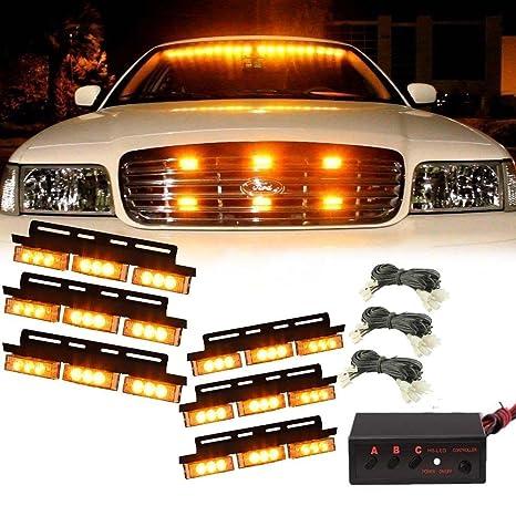 Amazon Com Champled New 36 Led Amber Car Emergency Warning Light