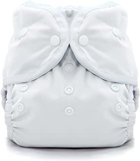 product image for Thirsties Duo Wrap Cloth Diaper Cover, Snap Closure, White Size Two (18-40 lbs)