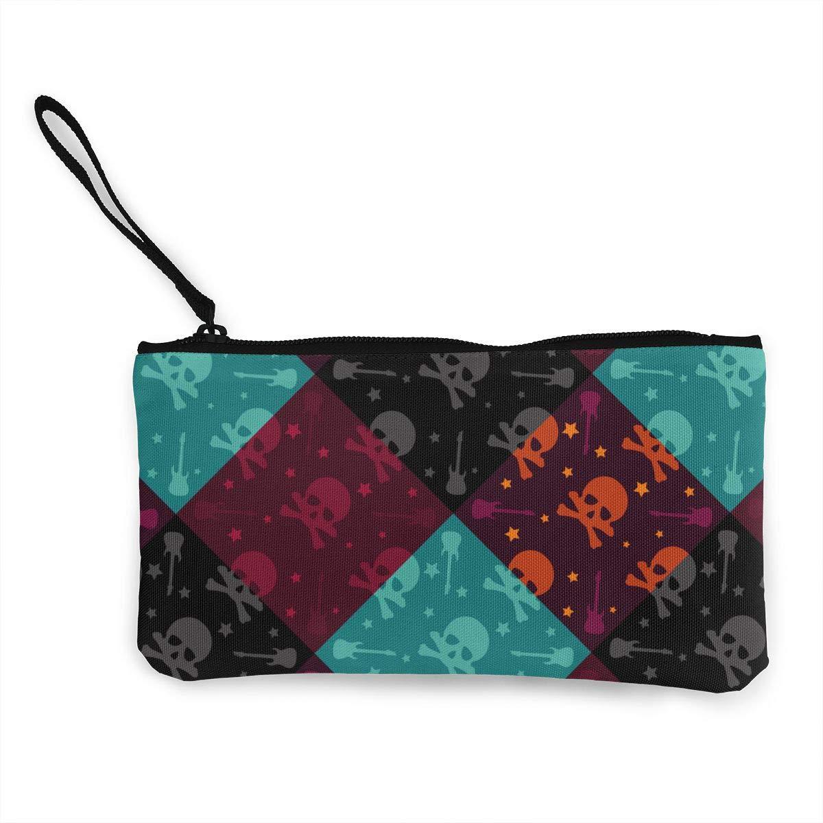 Amazon.com: Colorido bolso para monedas, diseño de calavera ...