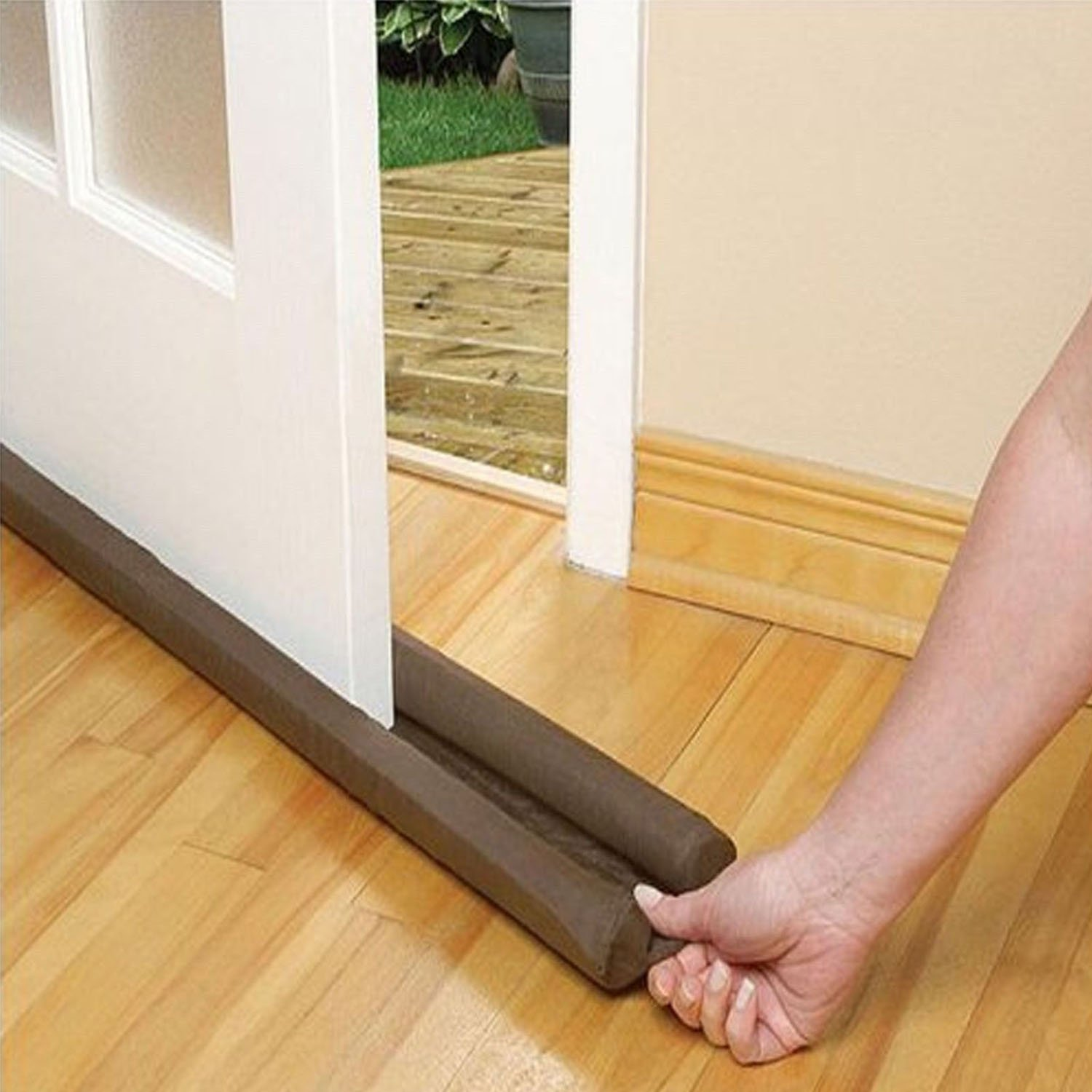 2 Pack Double Sided Twin Draft Guard Draught Excluder for Doors & Windows:  Amazon.co.uk: Kitchen & Home