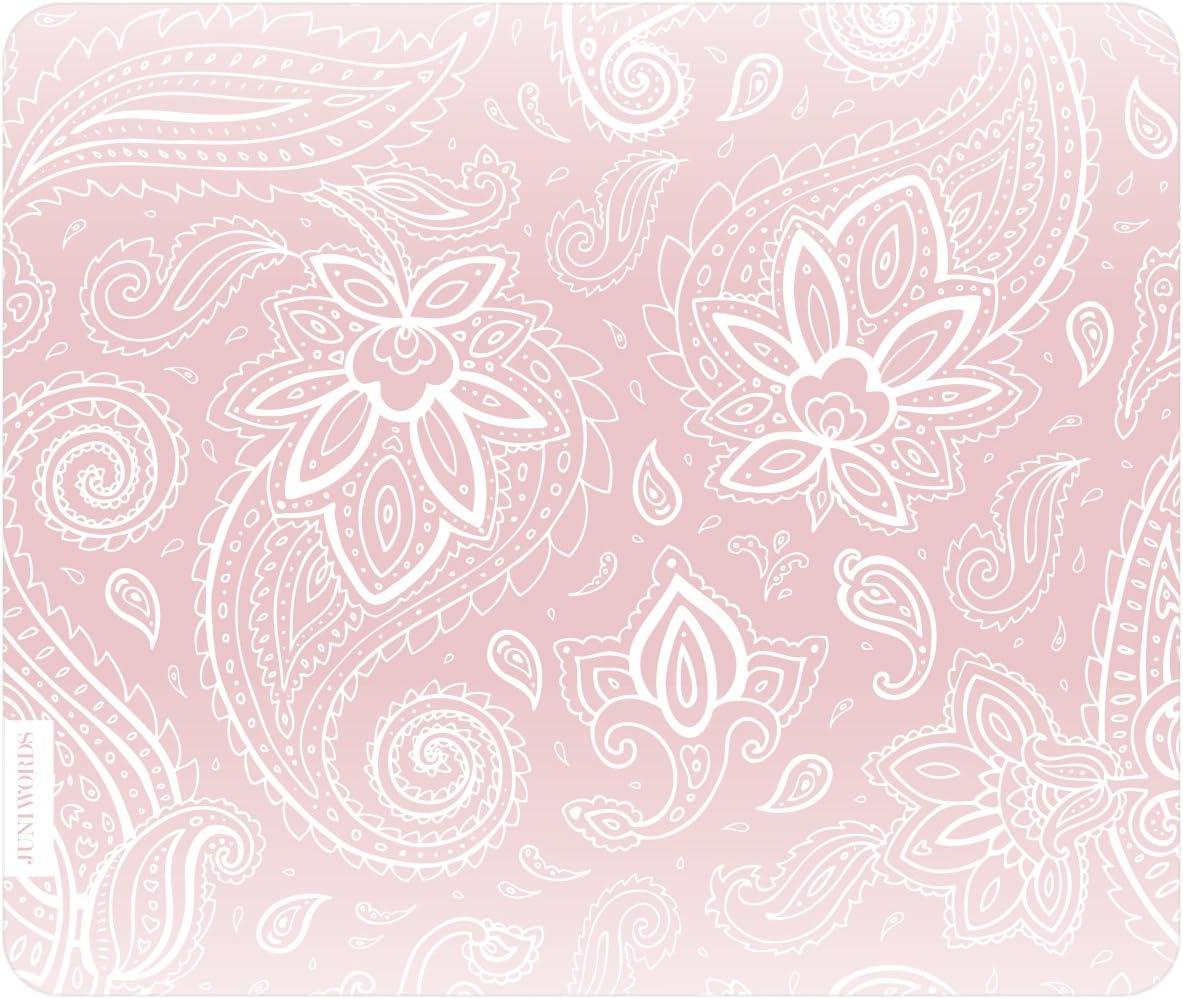 Juniwords Mousepad Mauspad Mit Motiv Weiße Schnörkel Rosa Ideales Geschenk Zum Geburtstag Weihnachten U V M Bürobedarf Schreibwaren