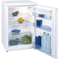 Exquisit KS 16-4 RVA++ Vollraum-Kühlschrank Glasablagen, weiß, 130L