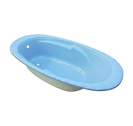 Vasca Da Bagno Azzurra.Guscio Vasca Da Bagno Effetto Conchiglia Colore Azzurra 169 X 89