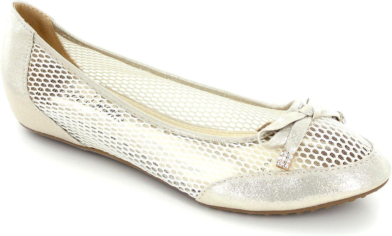 Helens Heart Womens Fishnet Style Ballet Flat