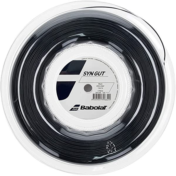 White Babolat Synthetic Gut 16G 1.30mm 660ft 200m Tennis String Reel