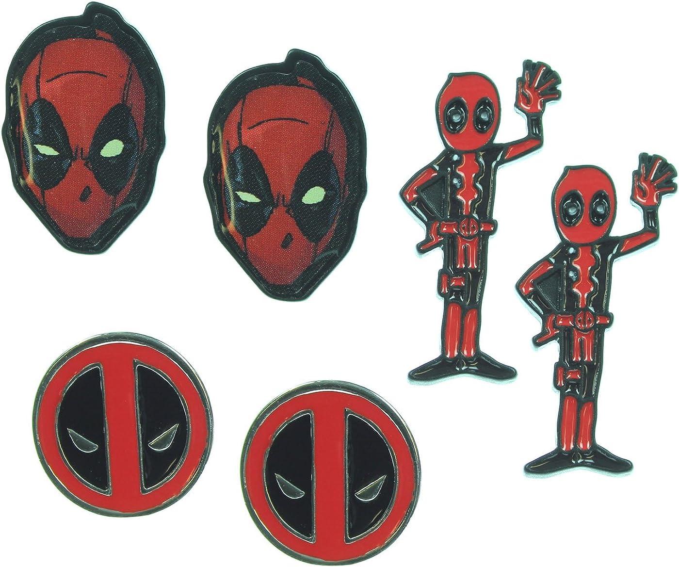 Deadpool Earrings 3 Pack Set: Amazon.es: Ropa y accesorios