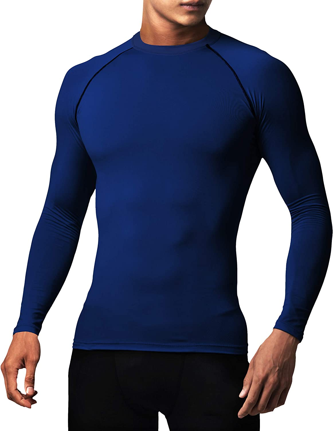 Defender Men's Quick Dry Compression Baselayer Underlayer Top Long Sleeve T-Shirt