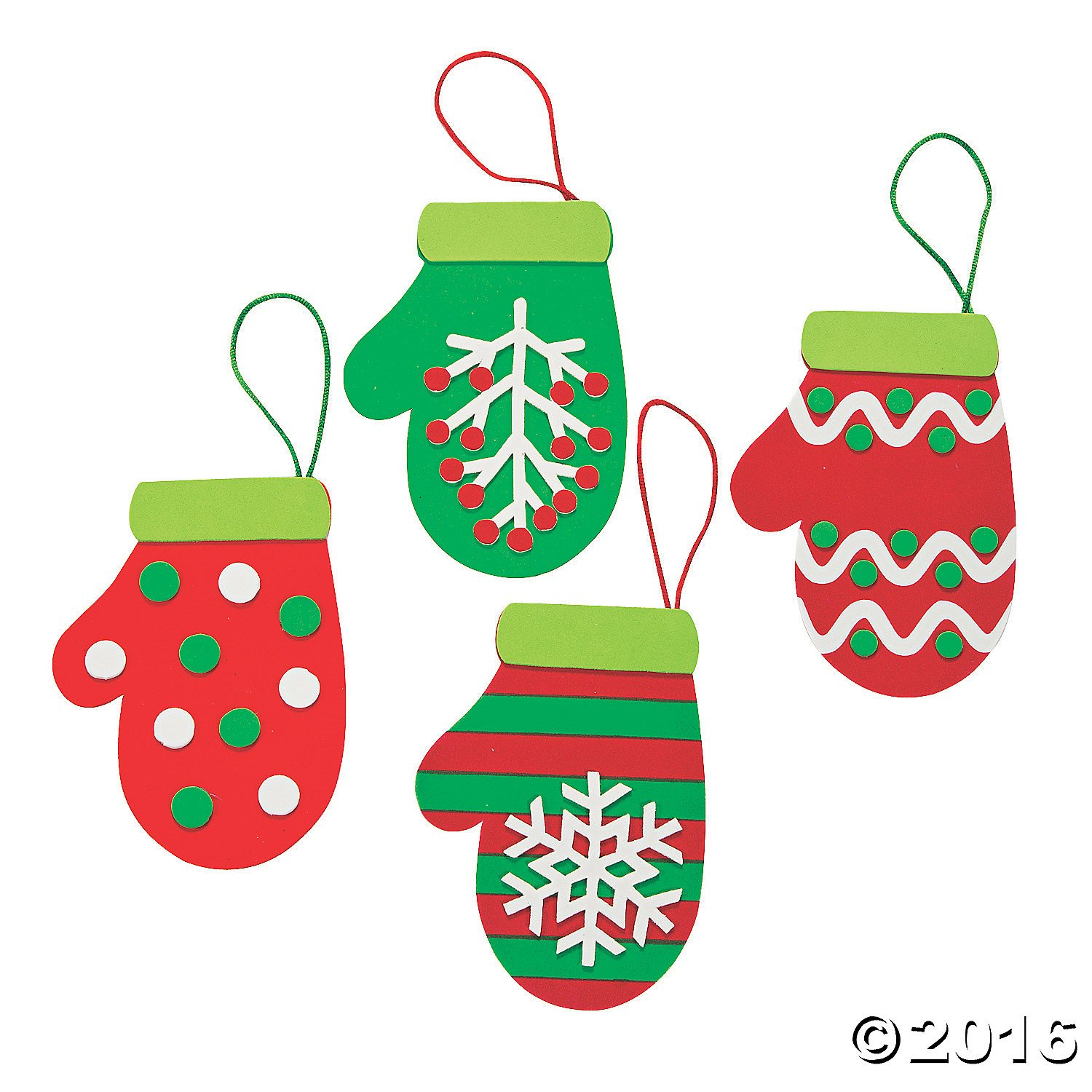 Amazoncom Christmas Mitten Ornament Craft Kit  Crafts For Kids