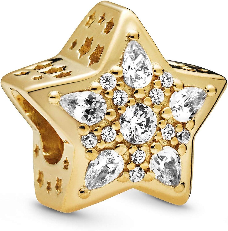 Pandora Jewelry Celestial Star Cubic Zirconia Charm in Pandora Shine