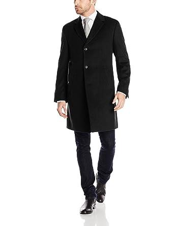 Kenneth cole new york men's black cashmere coat