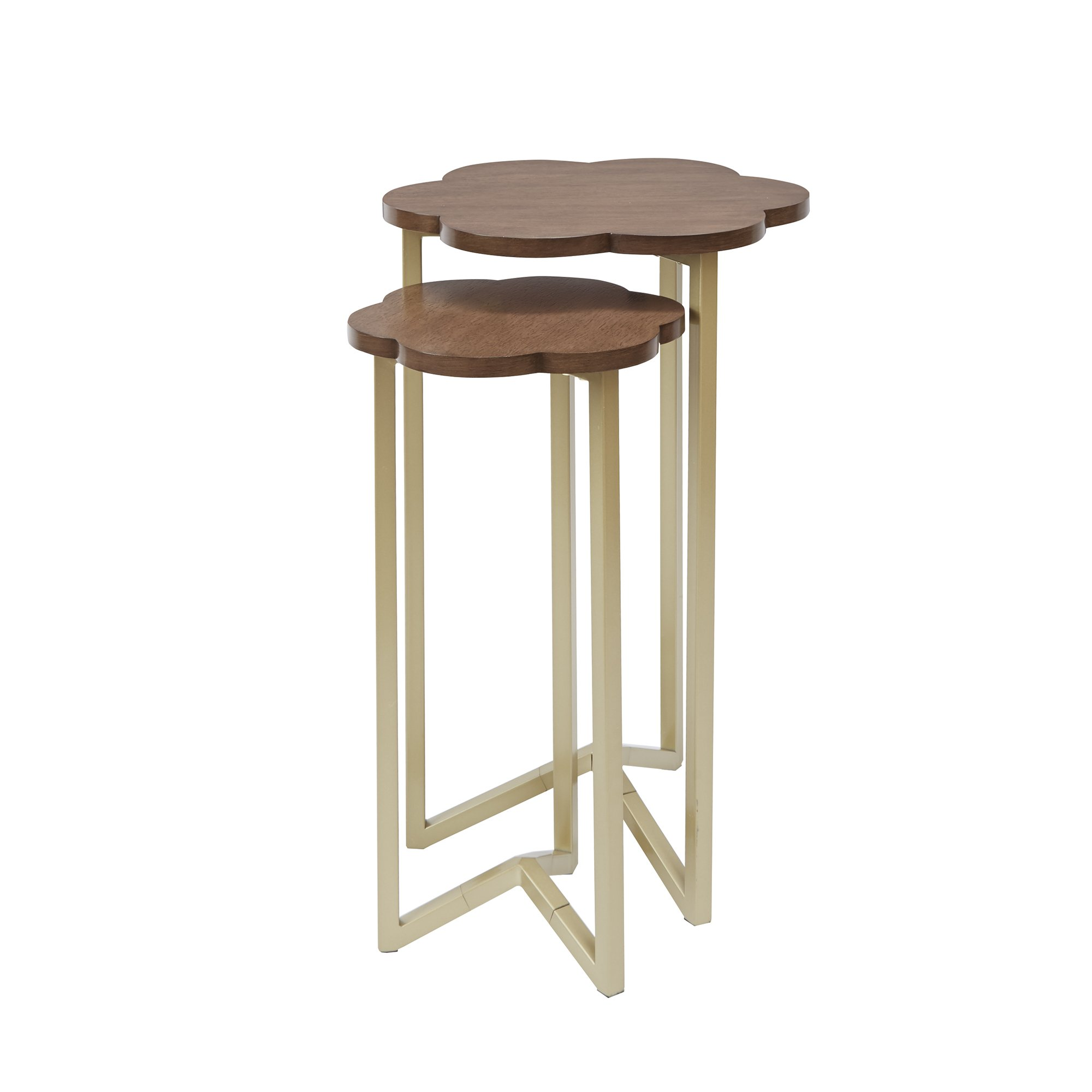 Silverwood FT1263-GLD-RGR Daphne Nesting Accent Tables (2pc), 17'' DIA x 27'' H