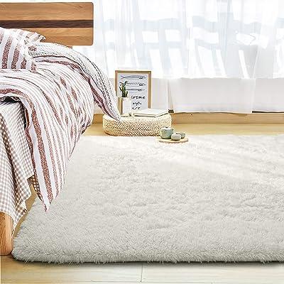 Buy Andecor Soft Fluffy Bedroom Rugs 6 X 9 Feet Indoor Shaggy Plush Area Rug For Boys Girls Kids Baby College Dorm Living Room Home Decor Floor Carpet Cream Online In Indonesia B08f9z89kr