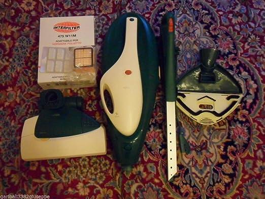 Vorwerk Folletto VK135 - Juego de escobilla y sacacorchos para aspiradora Vorwerk VK135: Amazon.es: Hogar