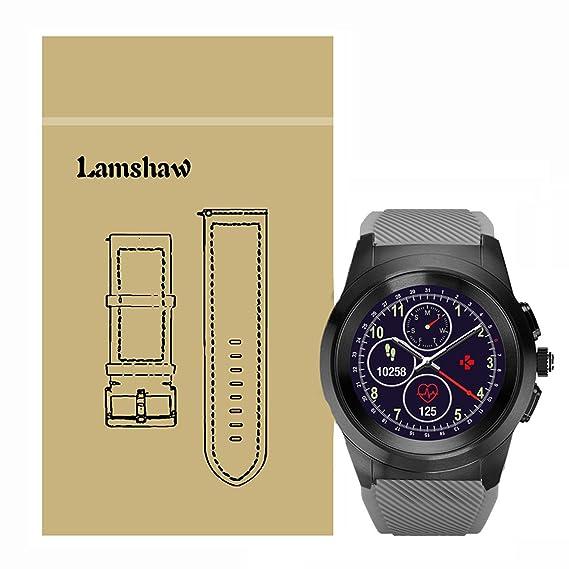 For MyKronoz ZeTime Band, Lamshaw Silicone Sport Replacement Band for MyKronoz ZeTime Smartwatch (Gray)