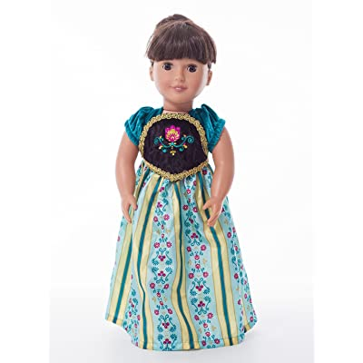 Little Adventures Scandinavian Princess Coronation Doll Dress: Clothing
