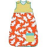 El Gro Company Grobag- Saco para bebé de 18-36meses, diseño de aletas, 1,0tog naranja multicolor Talla:6-18 meses