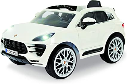 Amazon Com Rollplay W416ac 6v Porsche Macan Kids Ride On Car For Boys Girls Ages 3 Up Battery Powered Ride On Toy White 24 41 X 23 23 Toys Games