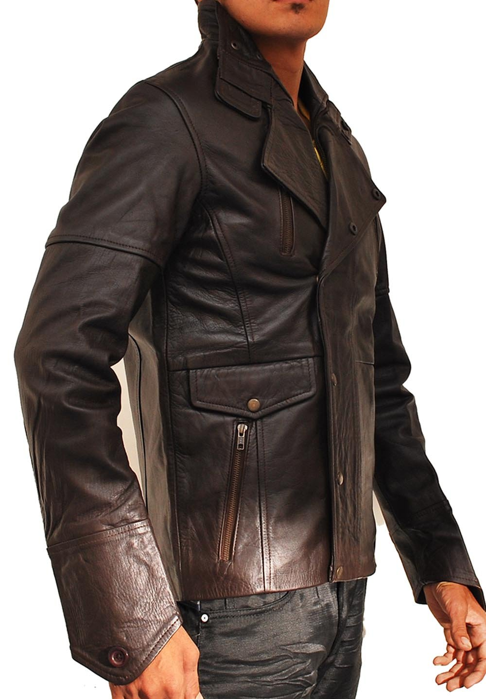 John Travolta From Paris With Love Leather Jacket by MPASSIONS (Image #2)