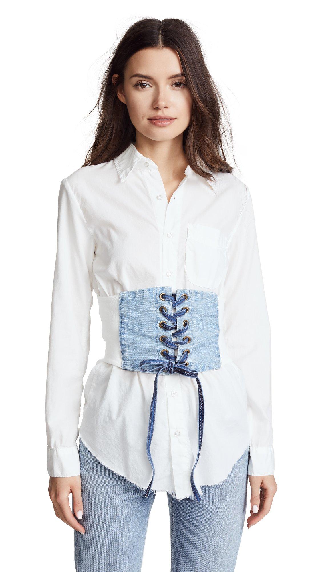 F/S N NSF Women's BOYDE Corset Top, White, Small