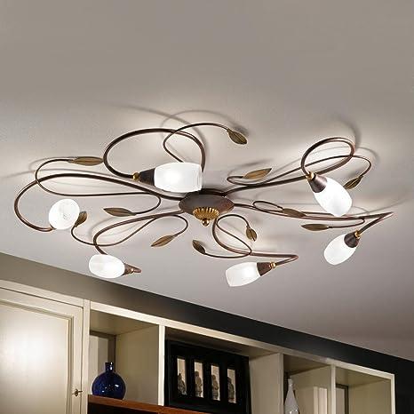 Retro Ramas Luz de techo 6 luces Vintage Clásico Elegante ...