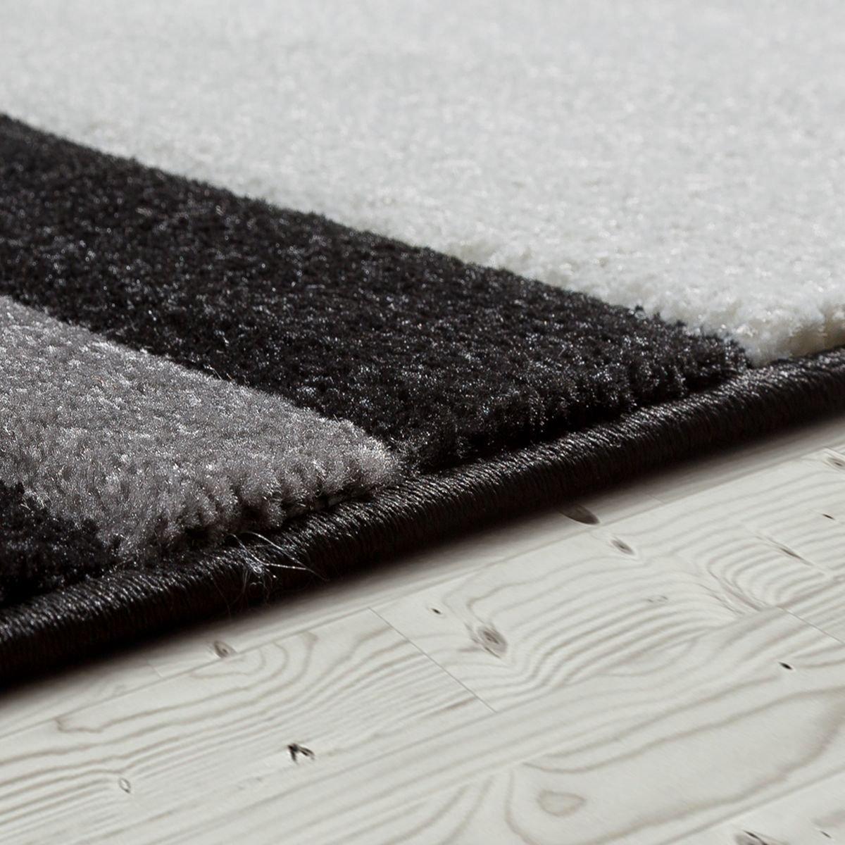 T&T Design Moderner Teppich Teppich Teppich   Wohnzimmer Schlafzimmer Esszimmer   Weicher Kurzflor   Wellen Muster   In Versch. Farben und Größen, Größe 160x230 cm, Farbe braun B07HLGGFR9 Teppiche 98a381