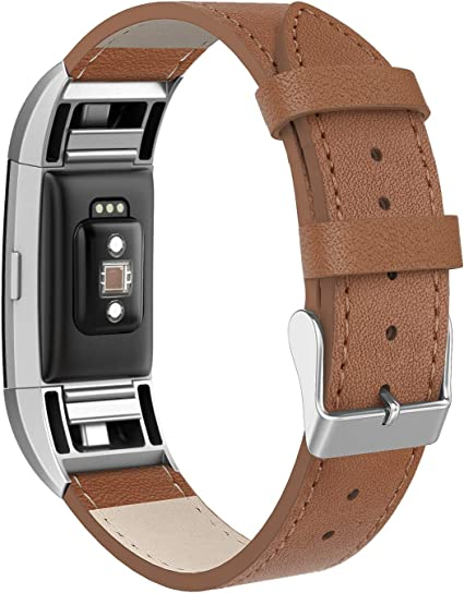 Leather Wrist Band w//Buckle Strap For Fitbit Charge 2 Replace Bracelet Wristband