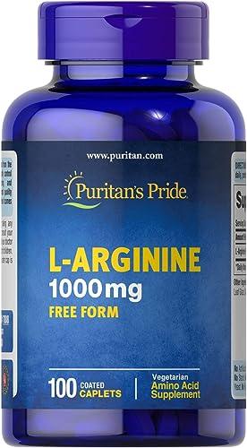 Puritan s Pride L-Arginine 1000 mg-100 Caplets
