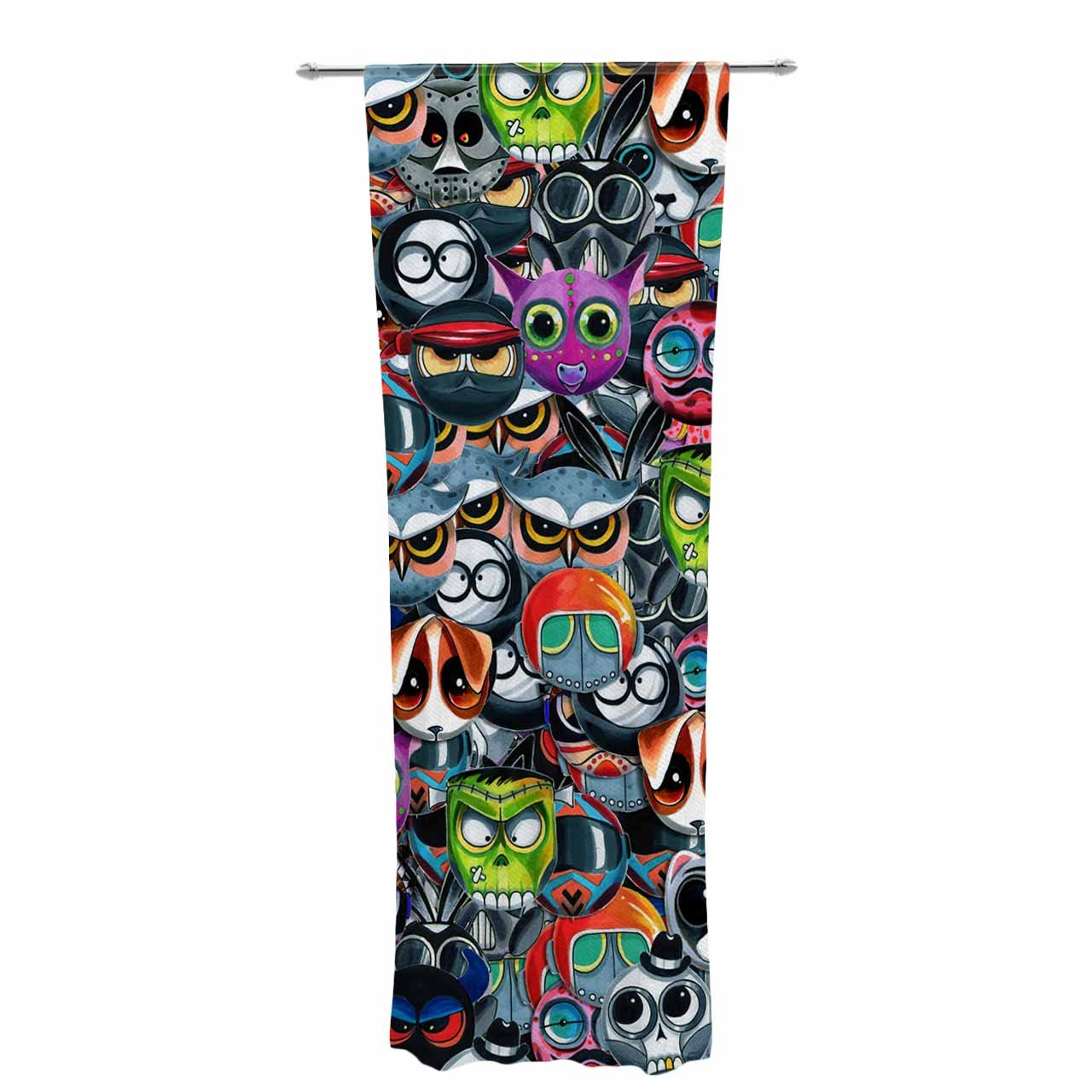 Kess InHouse Ivan Joh Holiday Chaos Sheer Curtains 30 x 84
