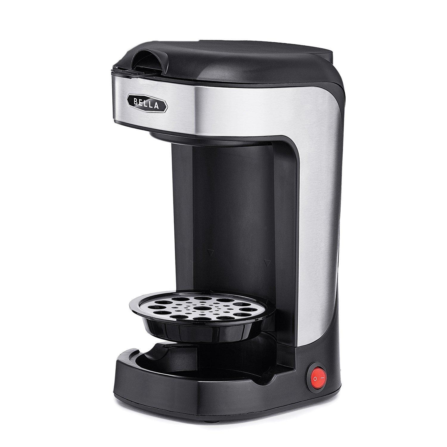 BELLA 14436 One Scoop One Cup Coffee Maker, Black and Stainless Steel by BELLA