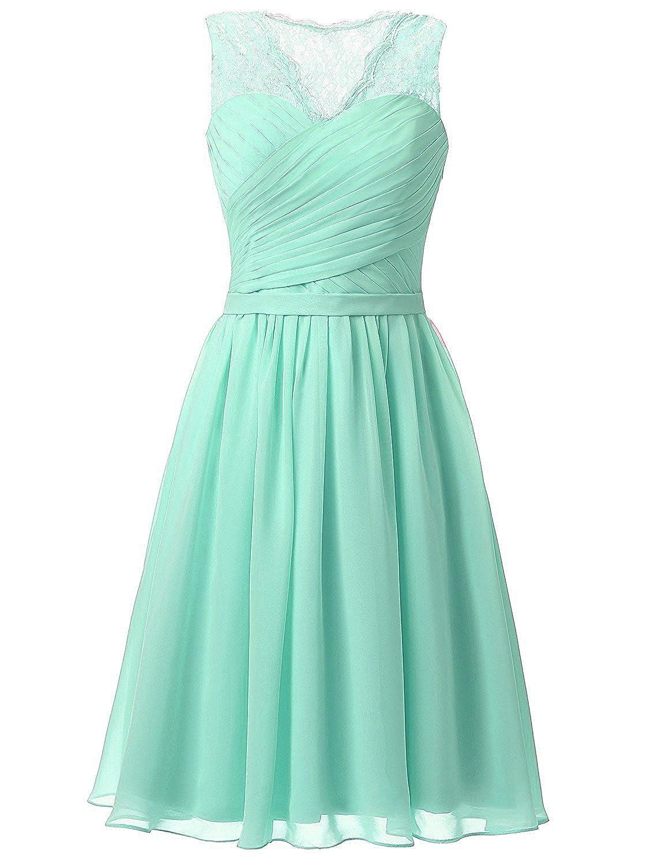 Aurora dresses Damen Abendkleider Elegant Kurz Partykleider Chiffon Ballkleid Brautjungfern Kleider