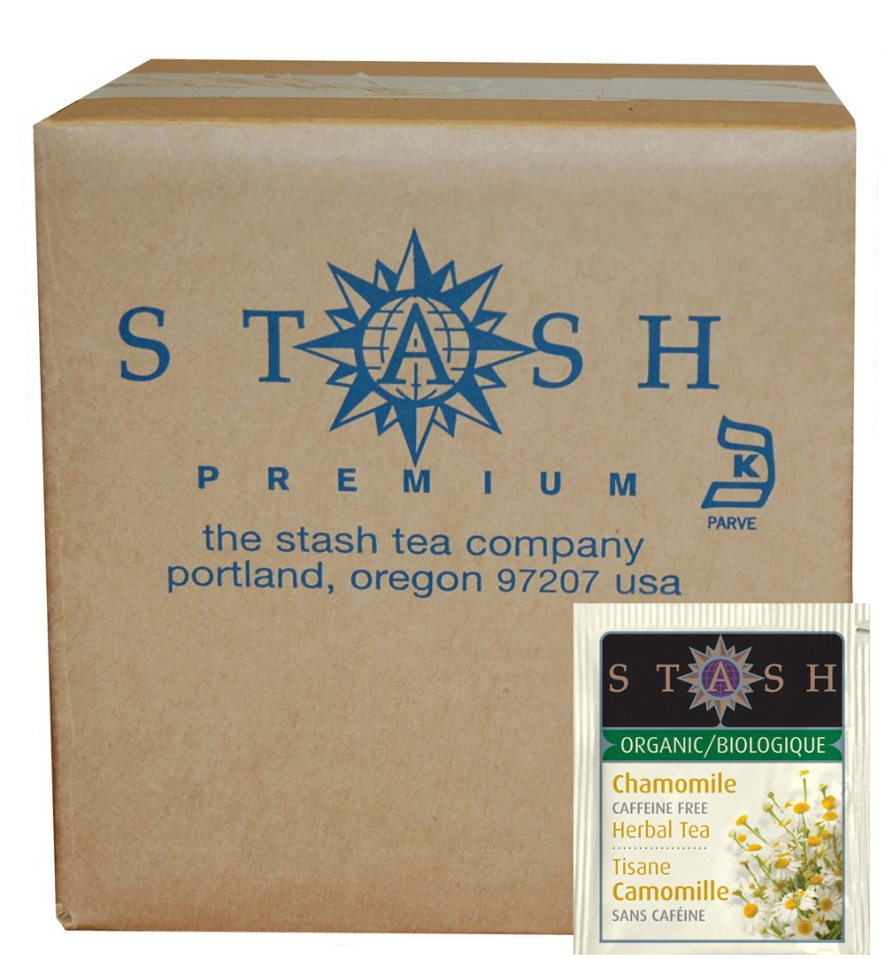 Stash Tea Organic Herbal Tea Bags in Foil, Chamomile, 100 Count (packaging may vary)