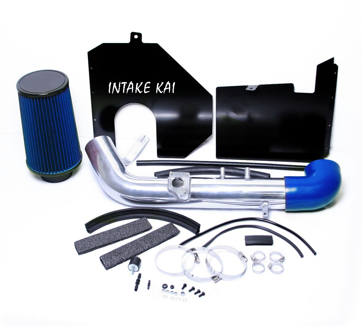 PERFORMANCE HEATSHIELD COLD AIR INTAKE KIT + FILTER FOR 2000-2004 TOYOTA TUNDRA 2001-2004 TOYOTA SEQUOIA 4.7 4.7L V8 ENGINE (BLUE)
