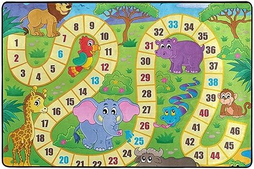 Odelia Palmer Área Alfombrilla Alfombra Juego de Mesa Alfombras Infantiles Alfombrilla para niños Sala de Juegos Sala de Estar Dormitorio: Amazon.es: Hogar