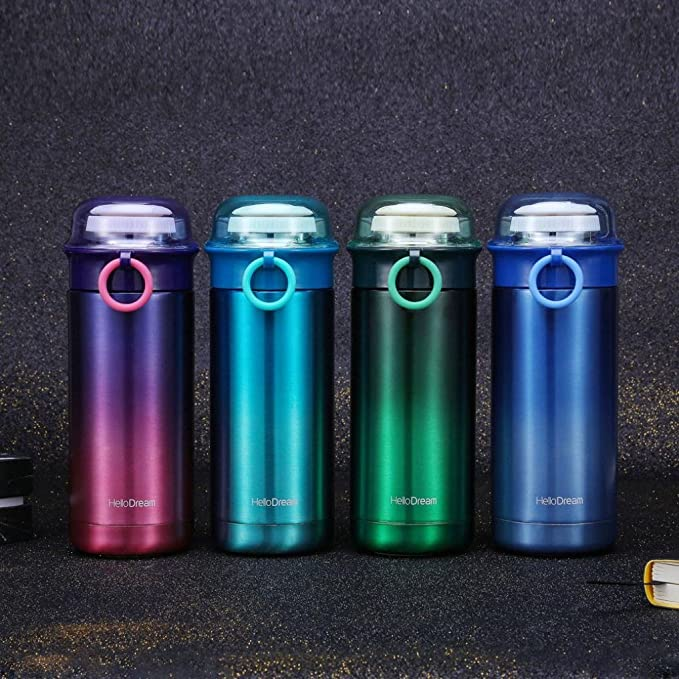 D Gaddrt Sports Water Bottle Gradient Transparent Cover Cup