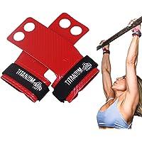 Bear Grips 2 Hole Titanium Grips, Superior Cross Fitness Grips, 60% Thinner & 10X Stronger Than Carbon Fiber Grips, Pull…
