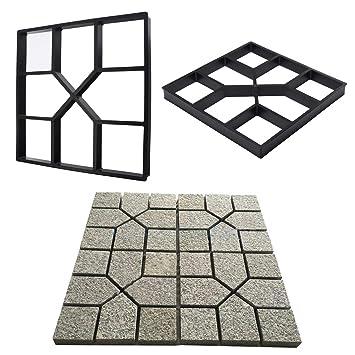 OSAYES Pie Maker Reutilizable Camino concreto Fabricante moldes Stepping Stone Paver Patio de césped Patio Jardin