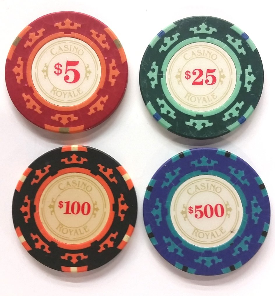 James Bond Casino Royale Poker Chips Set Performance used Movie Prop