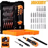 Jakemy JM-8160 33 in 1 with 24 Magnetic Driver kit, Precision Screwdriver & Socket Set with Tweezers, Extended Rod & Various Angle Veer for Household,PC, iPhone X / 8 /7, Laptop, Electronic DIY Models