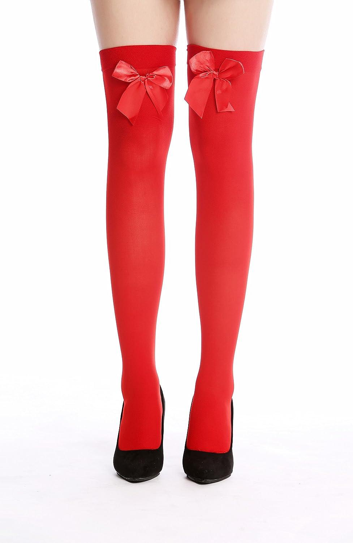 WZ-001RR Bas Dame Genoux Carnaval Rouges Rubans Rouges DRESS ME UP