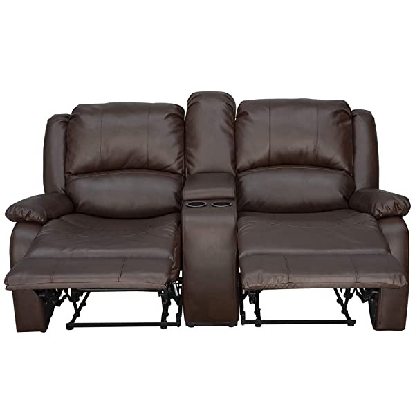 "RecPro Charles Collection | 67"" Double Recliner RV Sofa & Console 