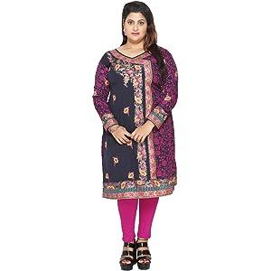 ba778a1164 Unifiedclothes Plus Size (Upto 9XL) Women Indian Pakistani Kurti Tunic  Kurta Top Shirt Dress