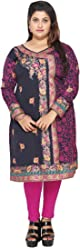 Unifiedclothes Plus Size (Upto 9XL) Women Indian Pakistani Kurti Tunic Kurta Top Shirt Dress EPlus110D