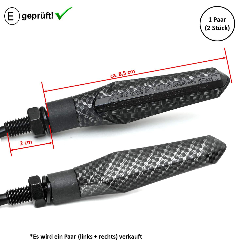 2 frecce a LED per Yamaha MT-09 omologate V5 MT-03 SHIN YO SP MT-125 MT-07